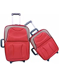 "UNIVERSAL TRAVELLER BAG-CREDIBLE-SET OF 2 BAGS (RED WITH BADGE ) 24""+20"""