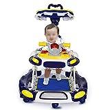 LFY Baby Walker Motorradgriff mit Schiebegriff und Sonnenschirm