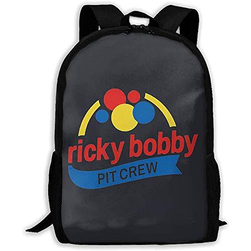 Bookbag,Ricky Bobby Pit Crew Gedruckter Schulrucksack Wasserdichter Reiserucksack Laptoprucksack Daypack (Crew Gedruckt)