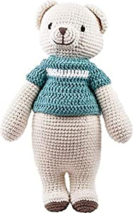 Strickmoden Bruno Barthel 87000-052900 - Oso de Ganchillo con suéter de Ganchillo