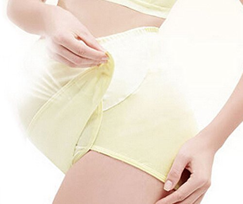 Aivtalk Damen Umstandsmode Unterhose mit verstellbar Bauchband Schwangerschaft Hoch Bund Slip für Schwangere Baumwolle Umstand unterwäsche Größe Farbe Wählbar Champagne