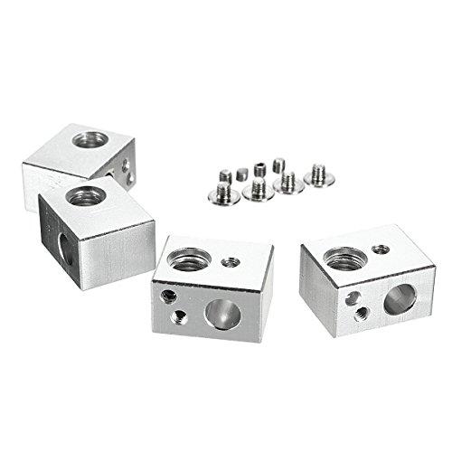MASUNN 4Er Mk10 Heating Aluminium Alloy Block M7 Thread 3D Druckerzubehör