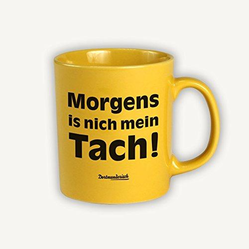 Dortmunderisch Tasse Kaffeebecher gelb Morgens preisvergleich