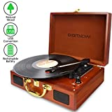 Digitnow! Portable Suitcase LP Record Players for vinyl with Built-in Speakers Rechargeable Turntable