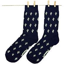Roits Cacti Azul 41-46 - Calcetines Originales de Colores para Hombre
