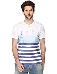 Stop By Shoppers Stop Mens Henley Neck Printed T-Shirt