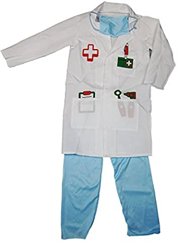 Details about Girls Boys Dress Up Costume Childrens Kids Party Outfit Fancy Dress - Doctor (5-7 years,