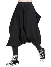 ELLAZHU Women Fashion Spring Elastic Waist Drop Crotch Casual Pants GY1543 A