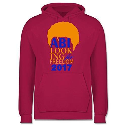 Abi & Abschluss - ABI looking for freedom 2017 - Männer Premium Kapuzenpullover / Hoodie Fuchsia