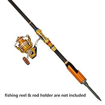 Supertrip Tm Telescopic Fishing Rod Portable Carbon Fiber Fishing Rod Pole Saltwater Travel Retractable Spinning Fishing Rod Size 2.1m6.89ft 4