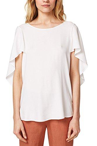 ESPRIT Collection 058eo1f017 Blusa, Blanco (Off White 110), 42 (Talla del Fabricante: 40) para Mujer