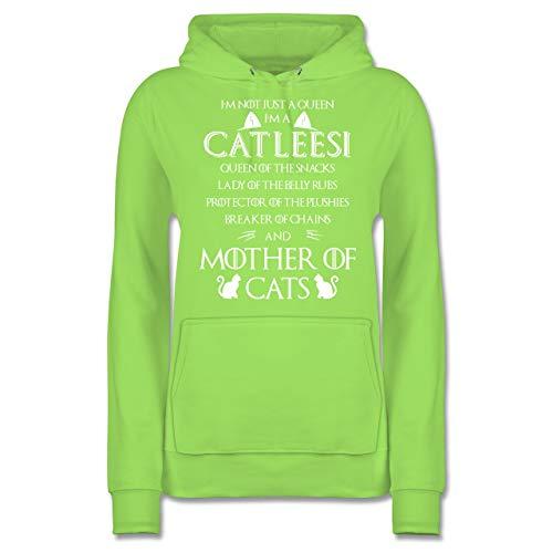 Katzen - I\'m a Catleesi - XL - Limonengrün - JH001F - Damen Hoodie