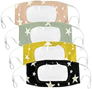 Liloee 4 Pcs Reusable Clear Face Masks With Window Visible Expression for The Deaf and Hard of Hearing