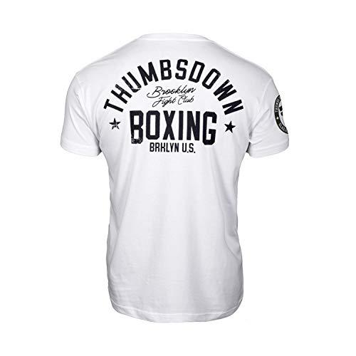 Thumbs Down Boxing T-Shirt. Brooklyn Fight Club. MMA. Kampfkünste. Gym. Training. Martial Arts. Casual (Größe Small) (Club Shirt Fight)