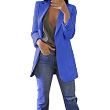 64c8828e342cb Mujeres Blazer Elegante Oficina Traje de Chaqueta Outwear Casual STRIR