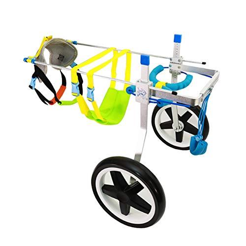 Hund Rollstuhl, Verstellbare Halterung Hinterbein-Rehabilitationsübung Haustier-Rollstuhl 2 Räder Behinderte Hunde-Hilfsenergie-Roller Für Teddy Big Dog Cart Kinderwagen (größe : S)