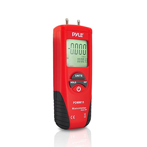 Pyle Digital Manometer zur Messung von Druck, PDMM15