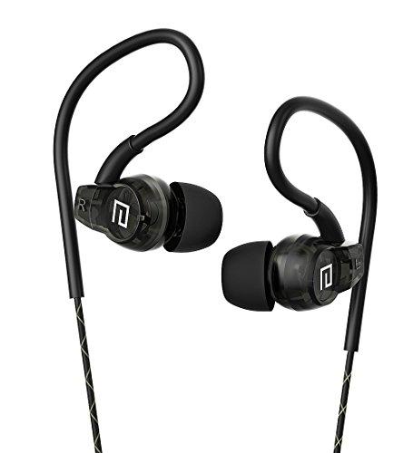 Langsdom SP80 Auriculares In-Ear Deportivos Impermeables con Control y Micrófono Compatibles con Dispositivos Apple, Samsung, Tablets, Android, Videojuegos (Negro)