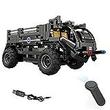 Muzili - Monster Truck RC Off Road Fahrzeug DIY zusammengebautes elektrisches Spezialpersonal der Polizei 468PCS 2.4G Vierweg-Fernbedienung montierte Bausteine