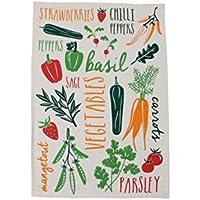 Vegetable Patch Tea Towel Kitchen Gardeners Gift Garden Christmas Present Dining