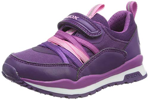 Geox J Pavel Girl B, Zapatillas para Niñas, Morado Violet/Purple C8267, 27 EU