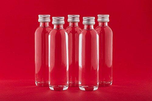 24 leere Glasflaschen 40 ml Krug mini miniatur Flaschen kleine Flaschen Glasfläschen mit Schraubverschluss Schnapsflaschen Nr 50ML bei slkfactory