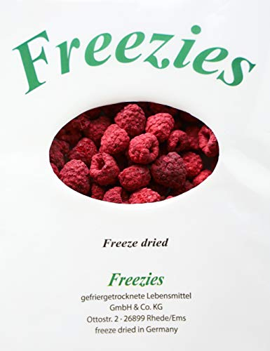 Freezies, Himbeeren gefriergetrocknet 100g Raspberries freeze dried ohne Zuckerzusatz , 100% Früchte Snack 100g