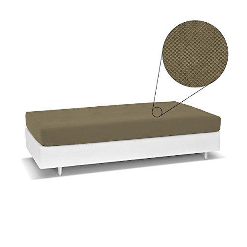 Copriletto living genius biancaluna per divano letto singolo antimacchia r454 tortora