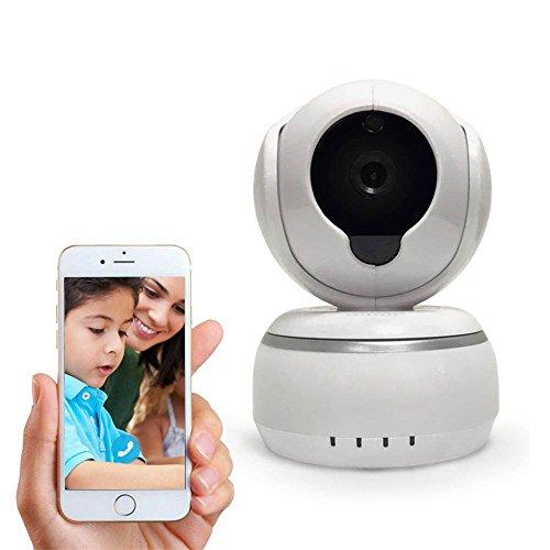 Sicherheitskamera Lampe Set Mit App, Überwachungskamera Baby 720p HD Audio Brille, IP Cam Cloud Dome Wlan, Wifi Kamera System Set Intellektuelles Quellprogramm ZY92 Infrarot und Nachtsicht