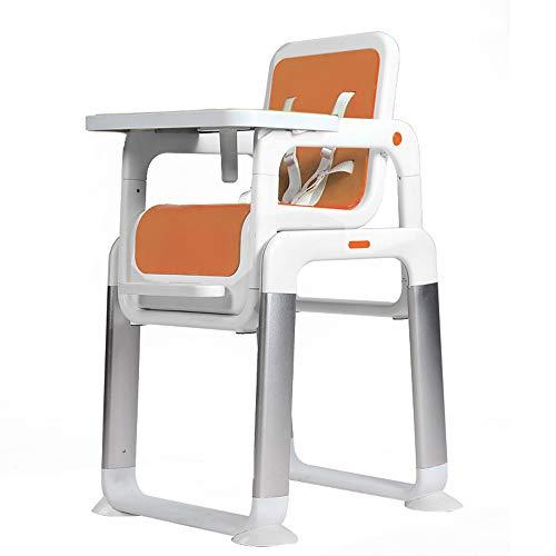 High chair Kinderhochstuhl, Kinderschreibtisch, geteilter Kindersitz, Esstisch und Stühle (Farbe : Orange)