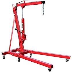 WilTec Grue d'atelier Pliable jusqu'à 1000 kg pour Atelier, Moteur, Jardin et Bien Plus Encore.