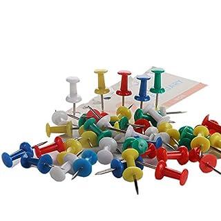 Goodplan Push-Pins Bunte Reißzwecke Kunststoff-Reißnadeln Schreibwaren für Schulbüro (1 Box)