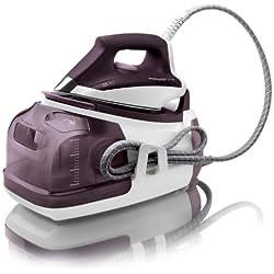 Rowenta DG8520 - Centro de planchado, 5 bares, autonomía ilimitada, vapor continuo 120 g/min, color blanco y violet