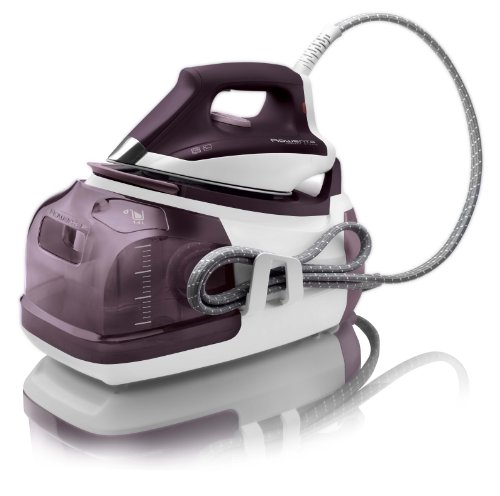 Rowenta dg8520 perfect steam ferro da stiro a caldaia ad alta pressione, piastra microsteam 400, 5 bar, vapore variabile 0-120 g/min, 2400 w, viola