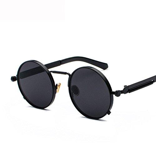 GHCX Frühlings-Punkwind-Sonnenbrille-männliche Gezeiten-Metallpersönlichkeits-weibliche Reflektierende Sonnenbrille-Objektiv-Art- Und Weisegeschäft Sports,G-OneSize