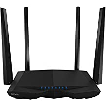 Router de doble banda Gigabit Tenda WLAN negro Ethernet