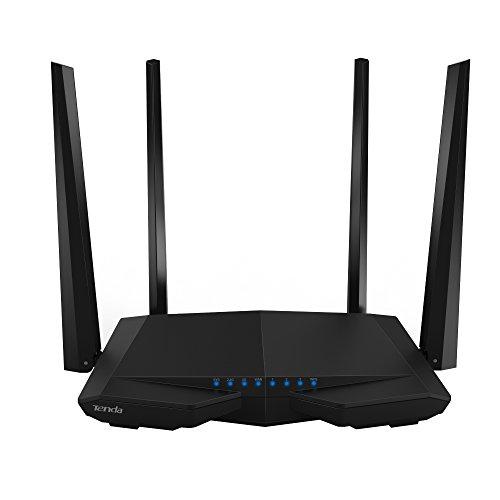 Foto de Router de doble banda Gigabit Tenda WLAN negro Ethernet