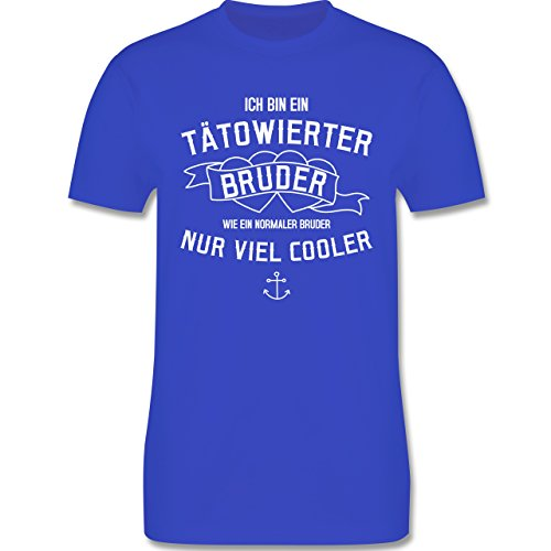 Bruder & Onkel - Ich bin ein tätowierter Bruder - Herren Premium T-Shirt Royalblau
