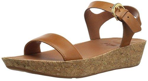 FitFlop Damen Bon II Back-Strap Sandals-Leather Peeptoe, Brown (Caramel), 39 EU (Sandale Fashion Leder)