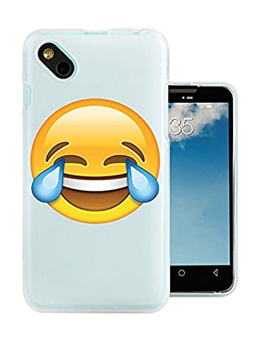 C0854 - Cool Funny Crying Laughter Smiley Emoji Design Wiko Sunny / Wiko B-Kool Fashion Trend Protecteur Coque Gel Rubber Silicone protection Case