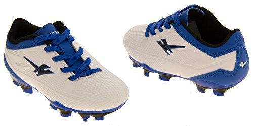 Gola Activo 5 Chaussures de Football Astroturf Garçons Blanc et Bleu