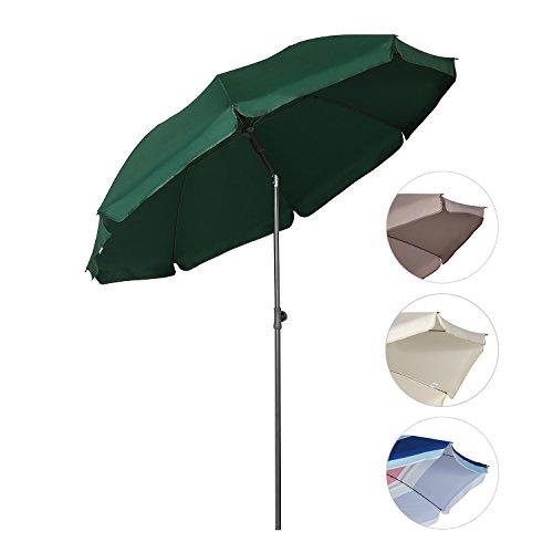 Sekey® Sonnenschirm Ø 200 cm Marktschirm Gartenschirm Terrassenschirm grün Rund Sonnenschutz UV25+
