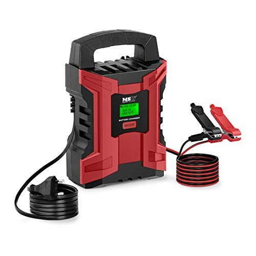 MSW Autobatterieladegerät Batterieladegerät Kfz Auto und Motorrad MSW-CBC-10ALCD (6 V/2 A, 12 V/10 A, 4 Lademodi, 180 W, Batterieleistung: 4-200 Ah)
