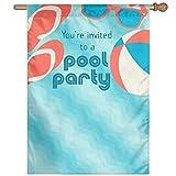Dozili Flagge für Pool-Party, Dekoration für Garten, wetterfest und doppelseitig, Polyester, bunt, 12.5