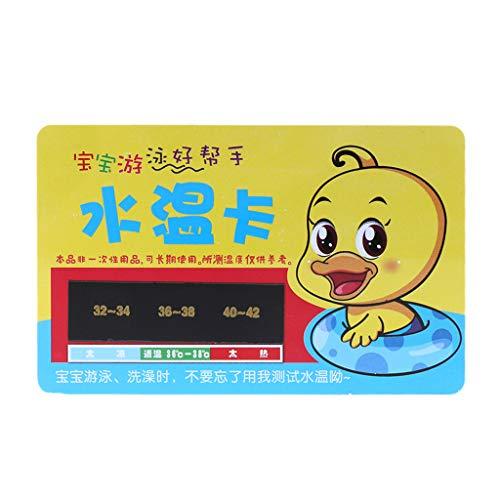 Lyguy-Card, 1 Stück Baby Badethermometer Karte Wasserdusche Temperatur Test Messen Wiederverwendbar