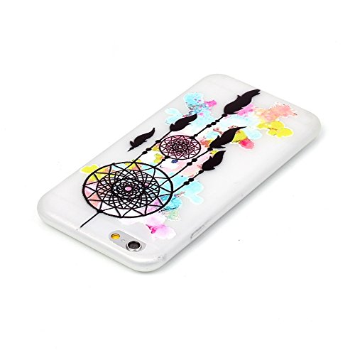 iPhone 6 Hülle, E-Lush Kreativ Design TPU Handyhülle Soft Silikon Tasche Transparent Schale für Apple iPhone 6/6s Plus(5,5 zoll) Clear Klar Hanytasche Durchsichtig Rückschale Ultra Slim Thin Dünne Sch Traumfänger