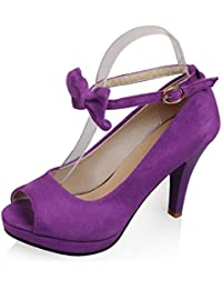 ZYSYSL Zapatos de Tacones Altos de Las Mujeres Peep Toe Stilettos Sandalias de Corte Sexy Moda