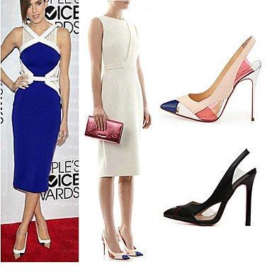 Moda Donna Sandali Sexy donna tacchi Primavera / Estate / Autunno / Inverno Comfort PVC / cuoio matrimonio abito / Stiletto Heel Slip-on Black