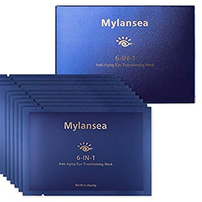 Mylansea Under Eye Mask for Dark Circles, Collagen Under Eye Patches with Hyaluronic Acid, 12 Pairs