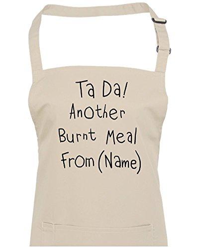 TA DA. Un autre brûlé repas à partir de (votre nom) personnalisé Tablier à partir de Fatcuckoo, naturel, Taille Unique